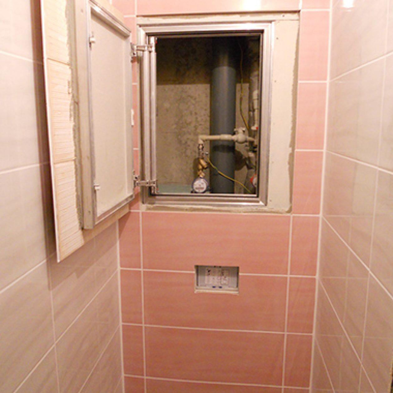 Как сделать люк в туалете под плитку